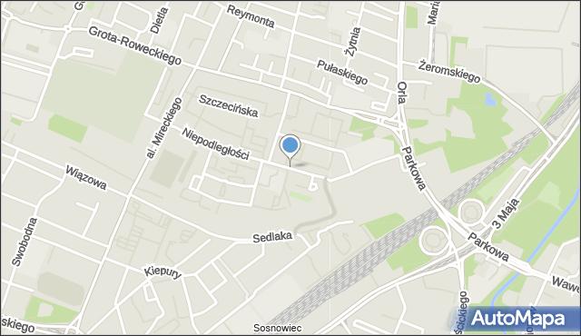Sosnowiec, Niepodległości, mapa Sosnowca