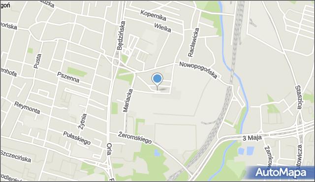 Sosnowiec, Niewielka, mapa Sosnowca