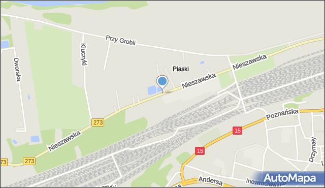 Toruń, Nieszawska, mapa Torunia