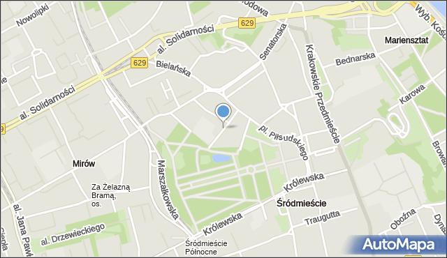 Warszawa, Niecała, mapa Warszawy