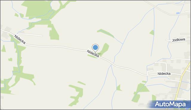 Wieprz powiat wadowicki, Nidecka, mapa Wieprz powiat wadowicki