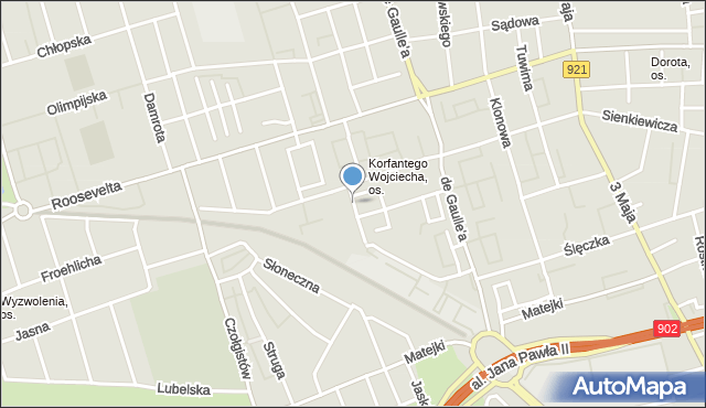 Zabrze, Niemcewicza Juliana Ursyna, mapa Zabrza
