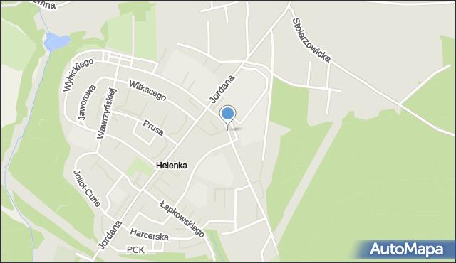Zabrze, Niepokólczyckiego Franciszka, płk., mapa Zabrza