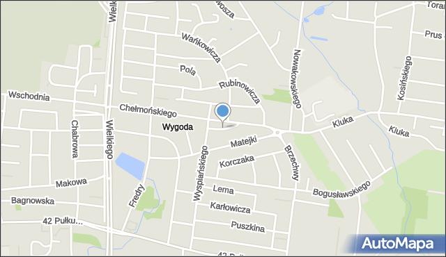 Białystok, Norwida Cypriana Kamila, mapa Białegostoku