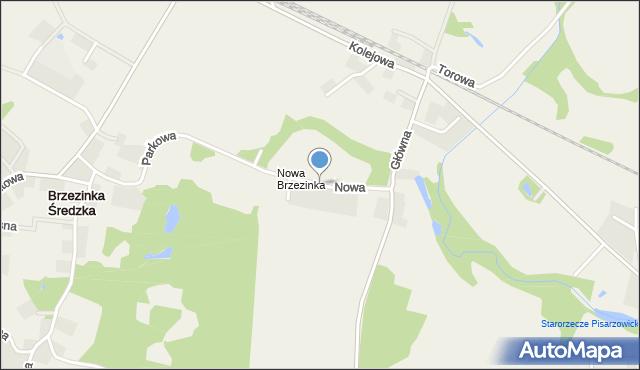 Brzezinka Średzka, Nowa, mapa Brzezinka Średzka
