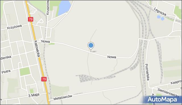 Chorzów, Nowa, mapa Chorzów