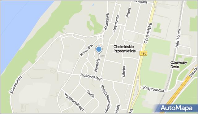 Grudziądz, Norwida Cypriana Kamila, mapa Grudziądza