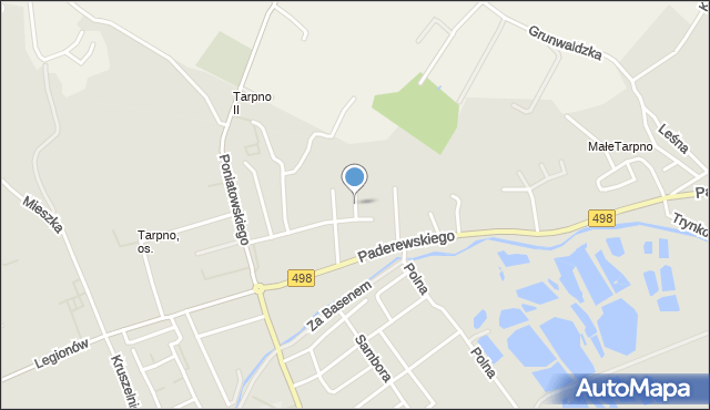 Grudziądz, Nowowiejska, mapa Grudziądza