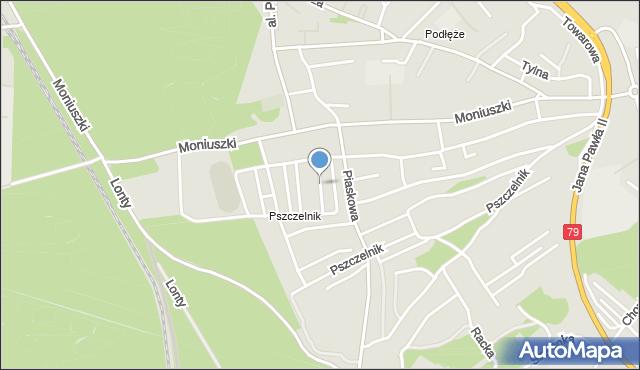 Jaworzno, Norwida Cypriana Kamila, mapa Jaworzno