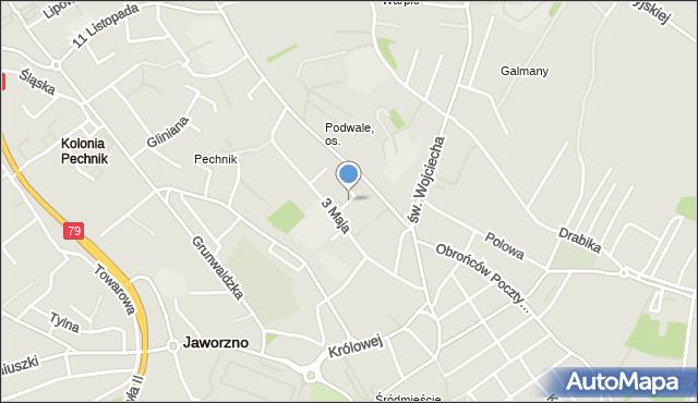Jaworzno, Nosala, mapa Jaworzno