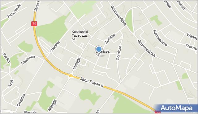 Jaworzno, Nowa, mapa Jaworzno
