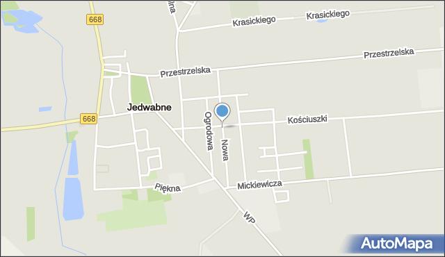 Jedwabne, Nowa, mapa Jedwabne