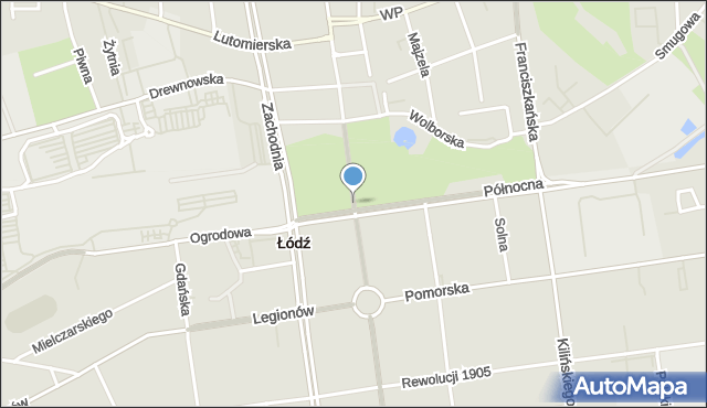 Łódź, Nowomiejska, mapa Łodzi
