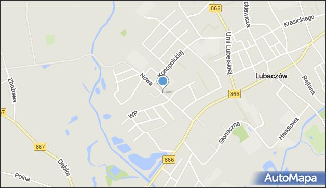 Lubaczów, Nowa, mapa Lubaczów