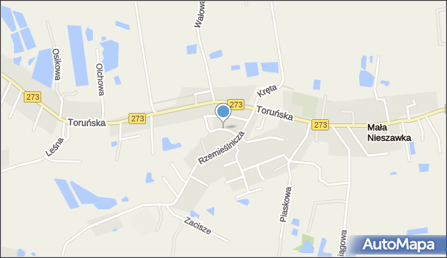 Mała Nieszawka, Nowa, mapa Mała Nieszawka