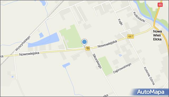 Nowa Wieś Ełcka, Nowowiejska, mapa Nowa Wieś Ełcka