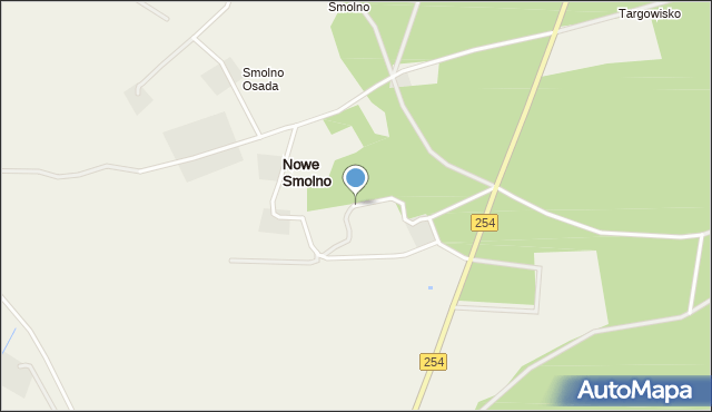 Nowe Smolno, Nowe Smolno, mapa Nowe Smolno