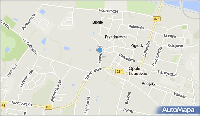 Opole Lubelskie, Nowa, mapa Opole Lubelskie