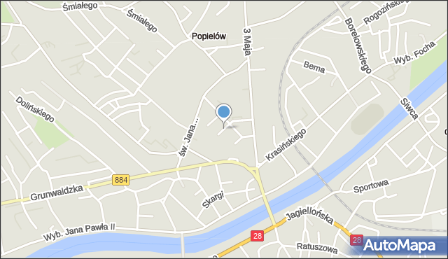 Przemyśl, Norwida Cypriana Kamila, mapa Przemyśla