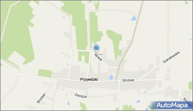 Przywózki, Nowa, mapa Przywózki