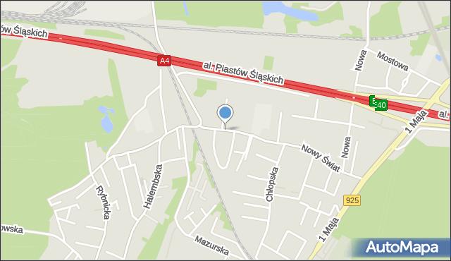 Ruda Śląska, Nowy Świat, mapa Rudy Śląskiej