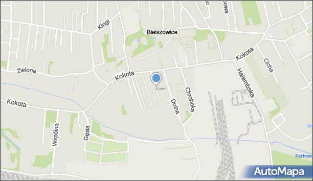Ruda Śląska, Noblistów Śląskich, mapa Rudy Śląskiej