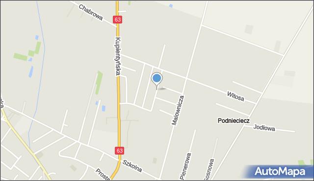 Sokołów Podlaski, Norwida Cypriana Kamila, mapa Sokołów Podlaski