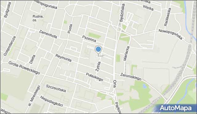 Sosnowiec, Nowy Plac, mapa Sosnowca