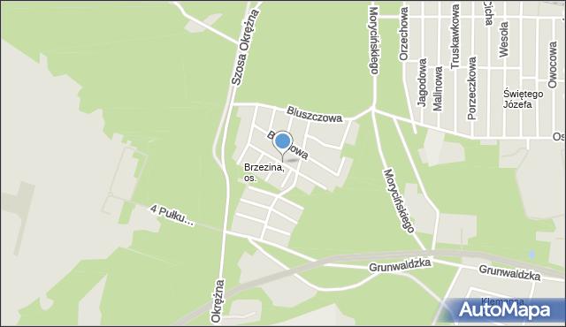 Toruń, Norwida Cypriana Kamila, mapa Torunia