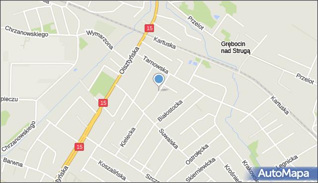 Toruń, Nowotarska, mapa Torunia
