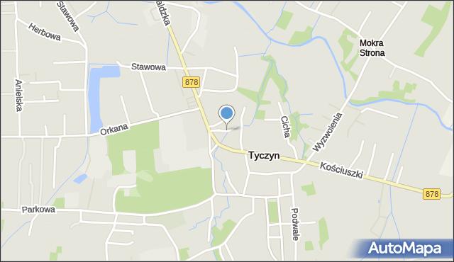 Tyczyn powiat rzeszowski, Norwida Cypriana Kamila, mapa Tyczyn powiat rzeszowski