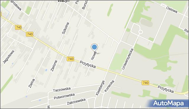 Wacyn, Nowa, mapa Wacyn