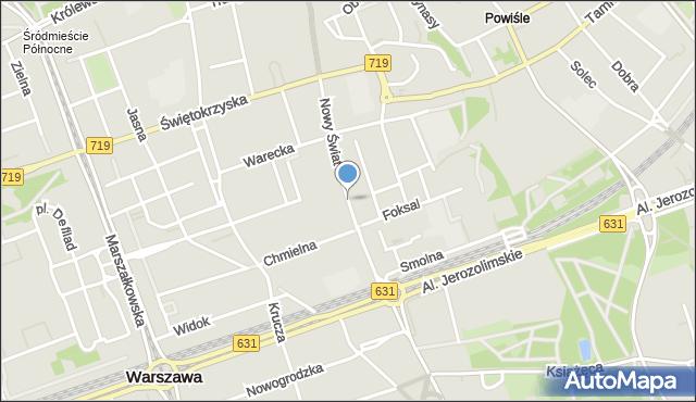 Warszawa, Nowy Świat, mapa Warszawy