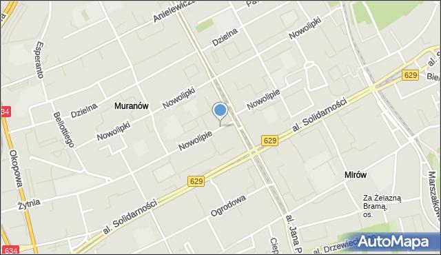 Warszawa, Nowolipie, mapa Warszawy