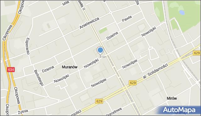 Warszawa, Nowolipki, mapa Warszawy