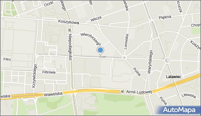 Warszawa, Nowowiejska, mapa Warszawy