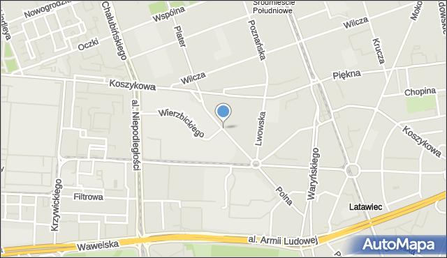 Warszawa, Noakowskiego Stanisława, mapa Warszawy