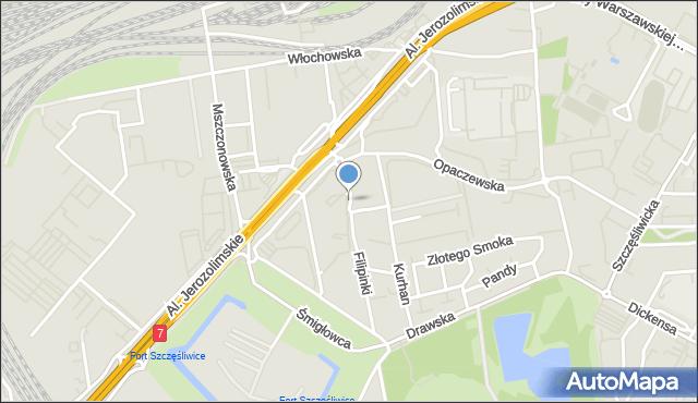 Warszawa, Nowoberestecka, mapa Warszawy