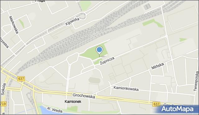 Warszawa, Nowińska, mapa Warszawy