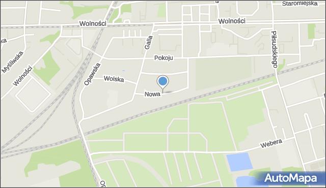 Zabrze, Nowa, mapa Zabrza