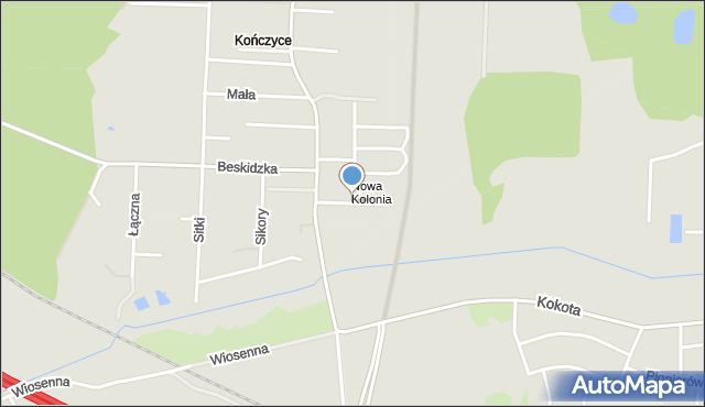 Zabrze, Noconiów, mapa Zabrza