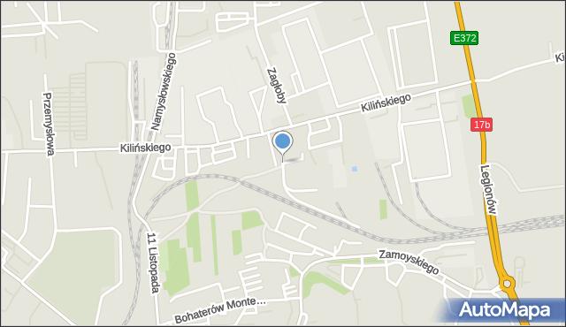 Zamość, Nowa, mapa Zamościa