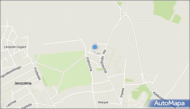 Jaworzno, Nullo Francesco, płk., mapa Jaworzno