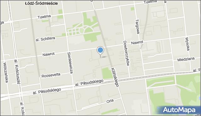 Łódź, o. Stefana Miecznikowskiego, mapa Łodzi