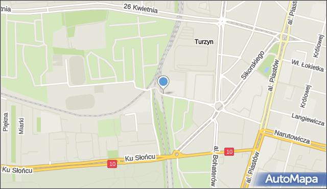 Szczecin, o. Augustyna Kordeckiego, mapa Szczecina