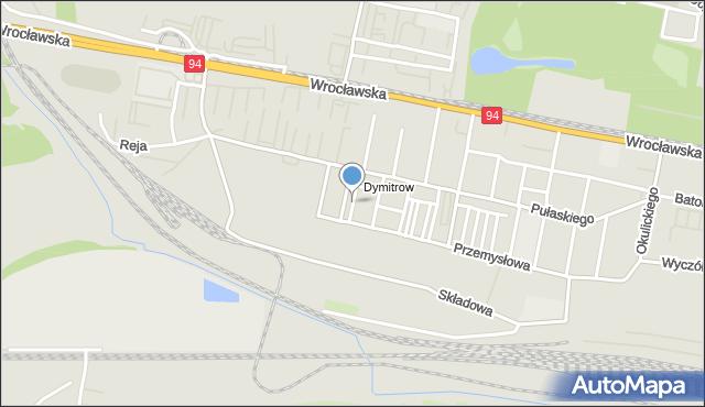 Bytom, Obozowa, mapa Bytomia