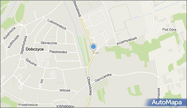 Dobczyce, Obwodowa, mapa Dobczyce