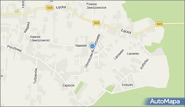 Jawiszowice, Obrońców Westerplatte, mapa Jawiszowice