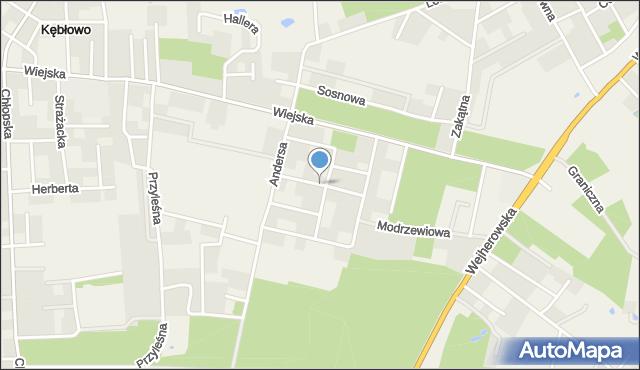 Kębłowo gmina Luzino, Obrońców Helu, mapa Kębłowo gmina Luzino