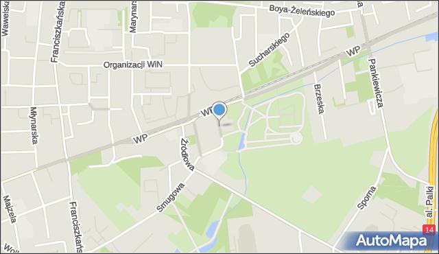 Łódź, Oblęgorska, mapa Łodzi